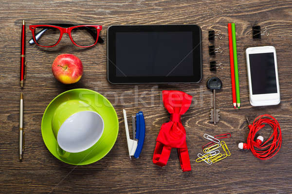 items laid on the table, still life Stock photo © adam121
