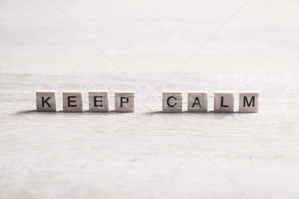 Keep calm phrase Stock photo © adam121