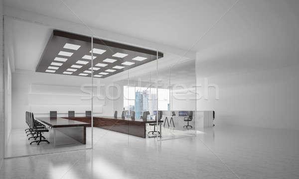 ストックフォト: オフィス · インテリアデザイン · 色 · 日光 · 光 · 勝利