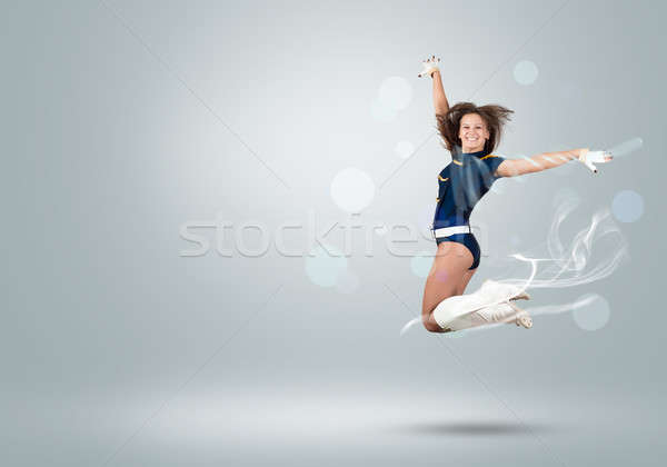 Cheerleader girl Stock photo © adam121