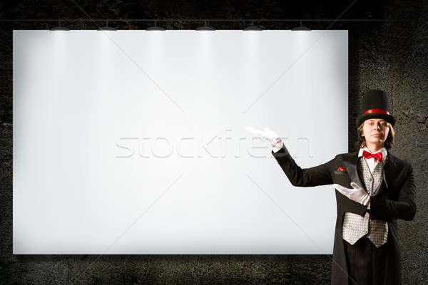 Mágico topo seis amarrar pontos bandeira Foto stock © adam121