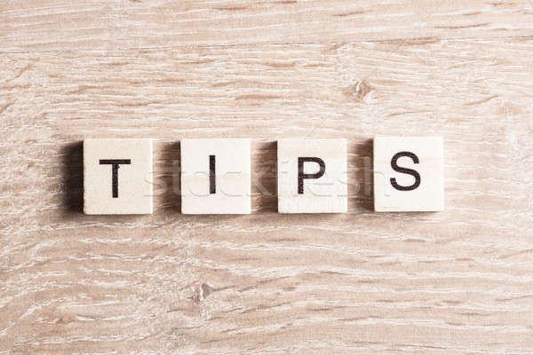 Tips word concept Stock photo © adam121