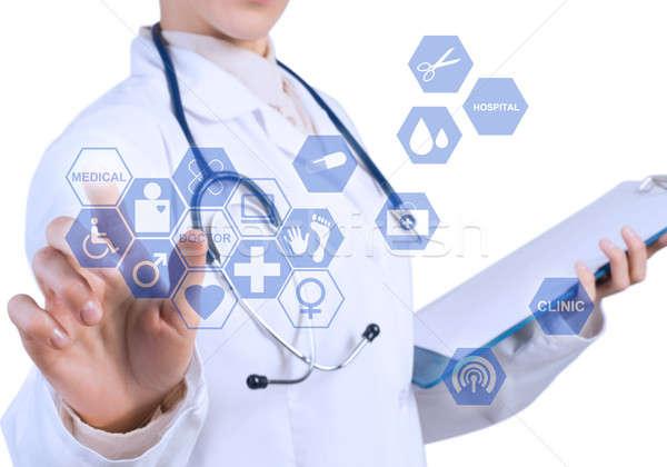 инновационный медицина молодые женщины врач Сток-фото © adam121