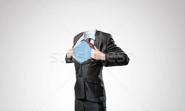 Headless super businessman Stock photo © adam121