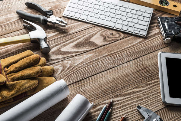 Reparatie dienst aanvragen variëteit tools bouwer Stockfoto © adam121