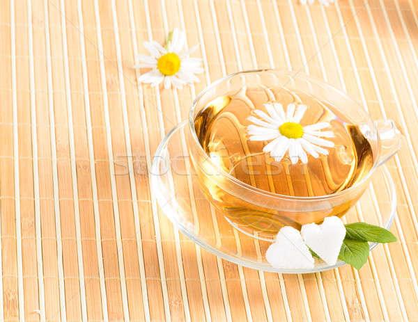 çay fincanı çay çiçek tıbbi Stok fotoğraf © adam121