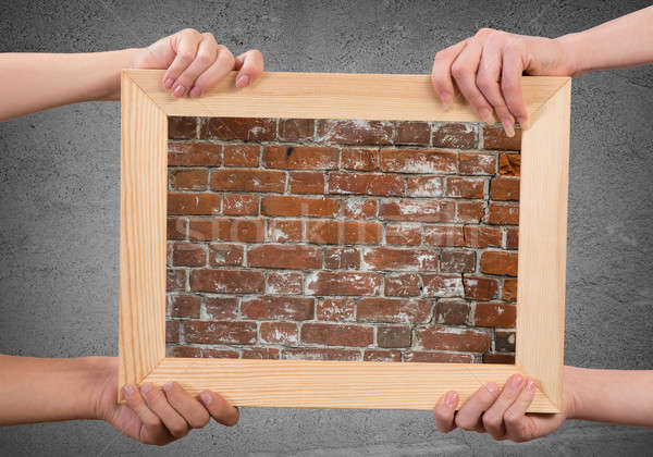 Hands holding frames Stock photo © adam121
