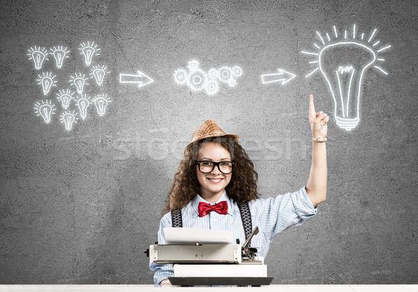 Stock photo: Girl writer