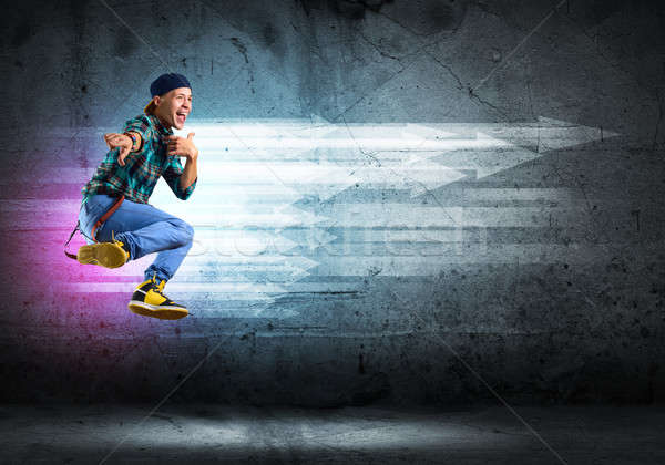 Danser afbeelding jonge man dansen collage Stockfoto © adam121