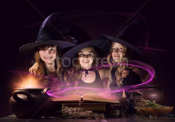 Three little witches Stock photo © adam121