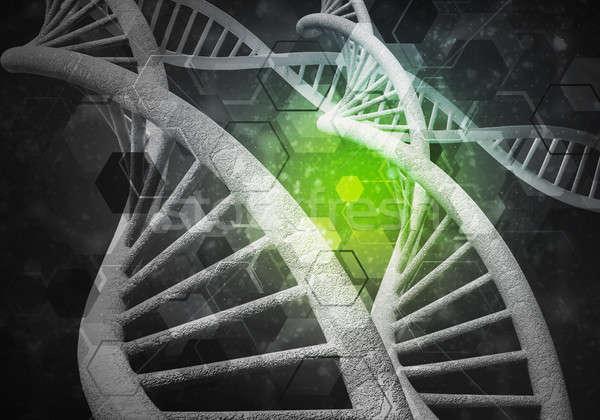 DNS molekulák 3D renderelt kép kép kutatás Stock fotó © adam121
