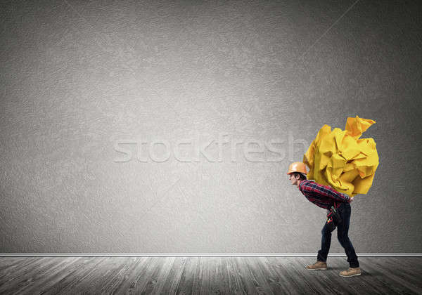 Ingeniero hombre cargar constructor Foto stock © adam121