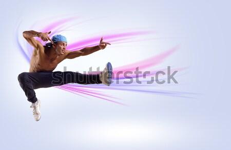 ヒップホップ ダンサー ジャンプ スペース 文字 コラージュ ストックフォト © adam121