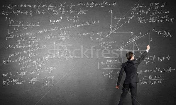 Teacher at the blackboard Stock photo © adam121