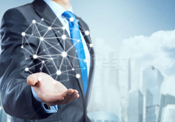 Foto stock: Conexión · interacción · empresario · mano