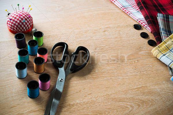 Coser mesa edad tijeras material Foto stock © adam121