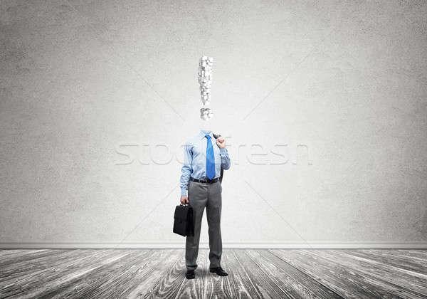 Altijd denken geld zakenman teken financieren Stockfoto © adam121