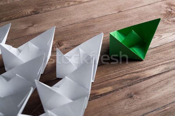 üzlet irányítás fehér szín papír hajók Stock fotó © adam121