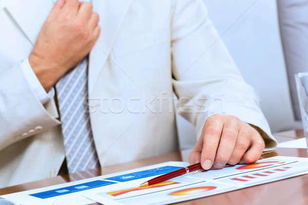 Empresario empate imagen cara usted mismo feliz Foto stock © adam121