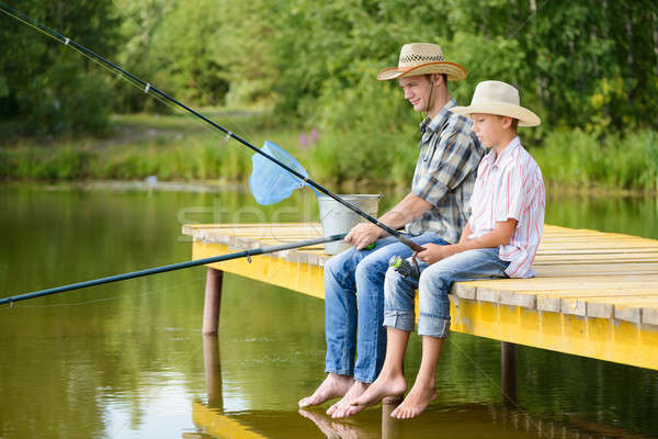 Summer angling Stock photo © adam121