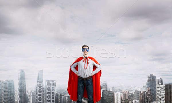 Jonge man masker armen taille Stockfoto © adam121