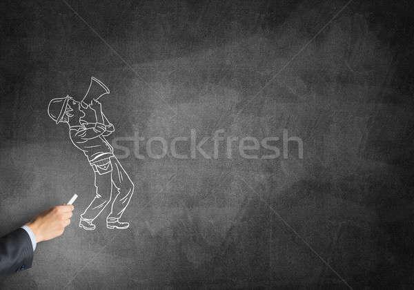 Caricatura constructor hombre masculina mano dibujo Foto stock © adam121