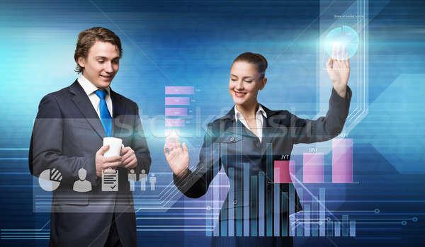 Businesspeople using modern technologies Stock photo © adam121