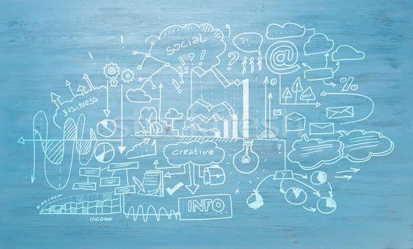 Estudio negocios ciencia eficaz planificación azul Foto stock © adam121