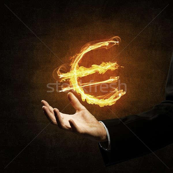 Euro currency fire symbol Stock photo © adam121