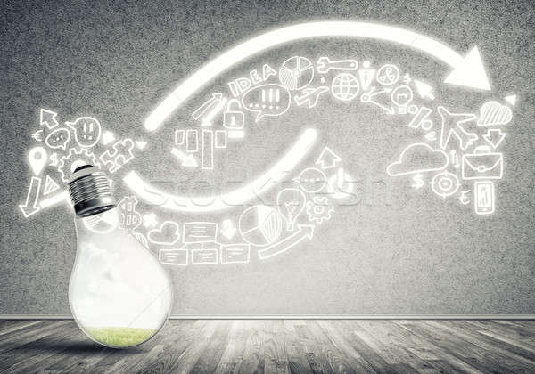 Hatékony marketing ötletek üveg izzó villanykörte Stock fotó © adam121