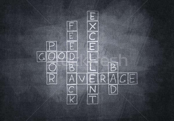 Chalk drawn crossword Stock photo © adam121