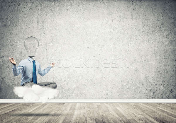 Businessman relaxing and waiting for inspiration Stock photo © adam121