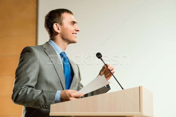 male speaker Stock photo © adam121