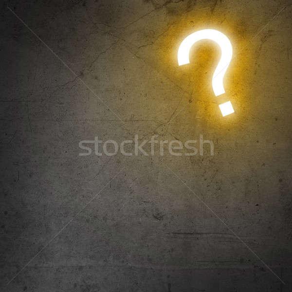 Soru işareti görüntü çimento duvar soyut arka plan Stok fotoğraf © adam121