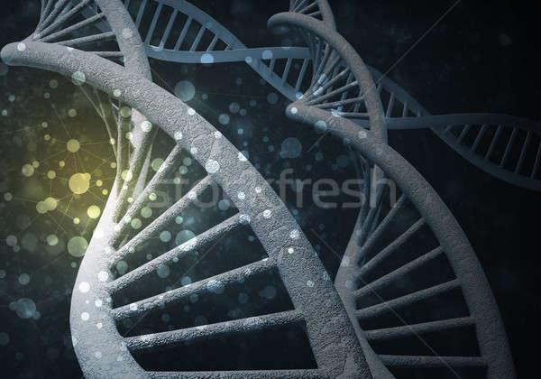 Dna moleculen achtergrond afbeelding computer medische Stockfoto © adam121