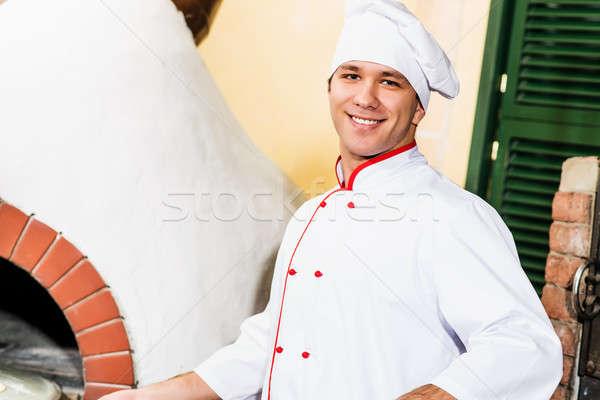 chef working in the kitchen Stock photo © adam121