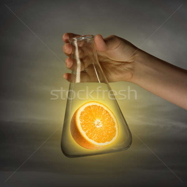 Experiments with fruits Stock photo © adam121