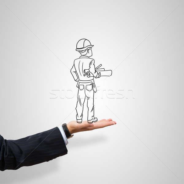Ingeniero hombre construcción masculina palma Foto stock © adam121