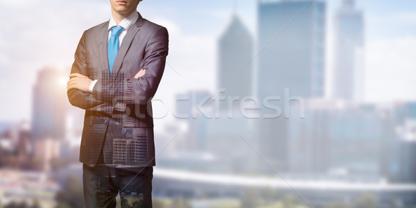 Stockfoto: Business · leider · zakenman · borst