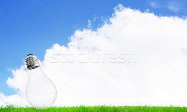 代替案 太陽エネルギー 電気 電球 夏 曇った ストックフォト © adam121