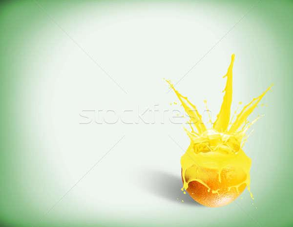 fresh orange juice with a splash Stock photo © adam121