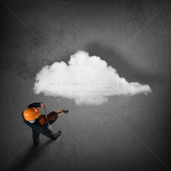 Uomo giocare successo melodia top view Foto d'archivio © adam121