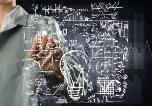 Woman sketching business ideas  Stock photo © adam121