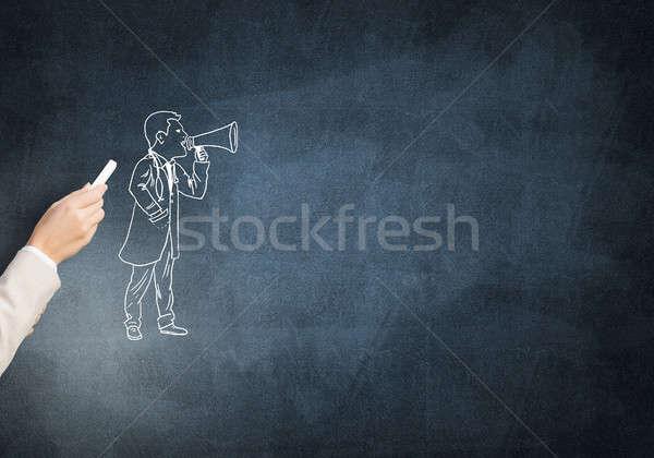Medico di sesso maschile femminile mano disegno gesso medico Foto d'archivio © adam121
