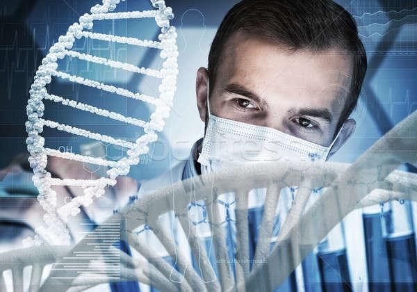 Jovem cientista vidro clínico Foto stock © adam121