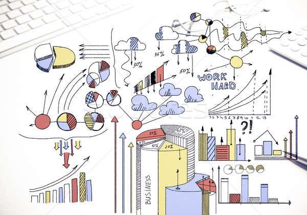 Terv jövedelmező üzlet szín üzleti stratégia rajz Stock fotó © adam121