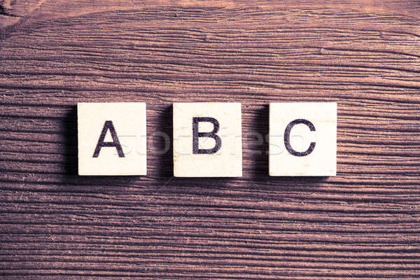 wooden elements with the letters collected in the word abc Stock photo © adam121