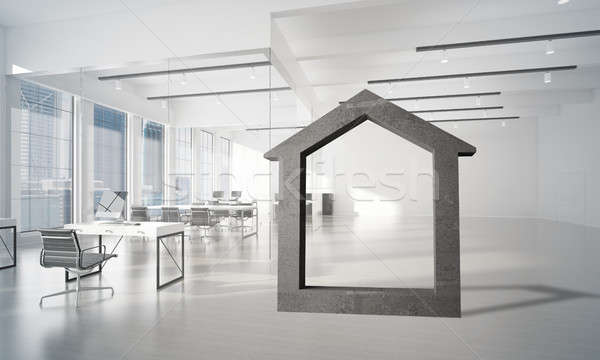 Imagen concretas casa signo moderna oficina Foto stock © adam121