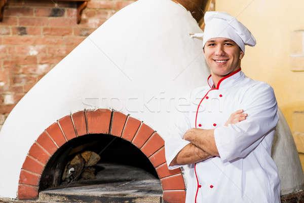 Stok fotoğraf: Portre · pişirmek · mutfak · fırın · geleneksel · mutfak