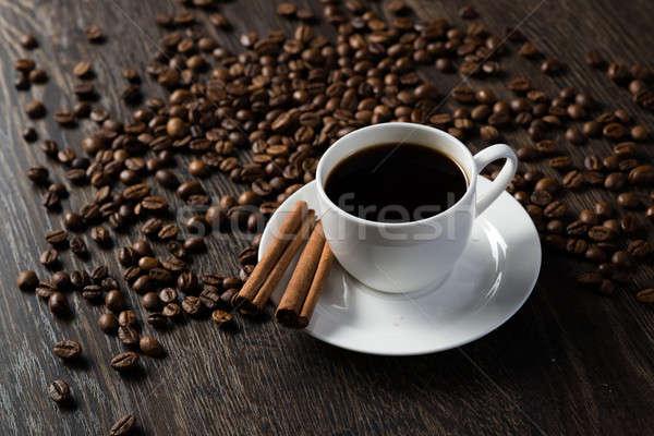 Кубок черный кофе корицей кофе вокруг кофе Сток-фото © adam121